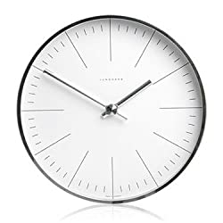 Max Bill Modern Wall Clock with Lines 11.8