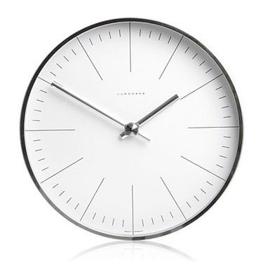 Max Bill Modern Wall Clock with Lines 8.7