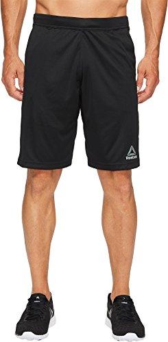 Reebok  Men's Speedwick Knit Shorts Black Shorts