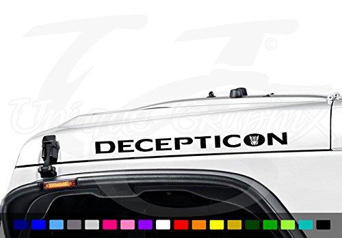 (Jeep Wrangler Decepticon Vinyl Hood Decal Emblem 1 Pair )