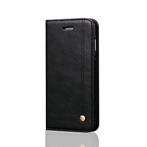 船乗り地図喉頭iPhone 6 ケース / アイフォン 6s ケース 本革 財布型 本革レザー  TPU マグネット式 スタンド機能 カードポケット 二つ折り 人気女性 男性兼用 横開きスタンド 保護 アイフォン 6s ケース手帳型 カバー ケース (iPhone 6s/6, ブラック)