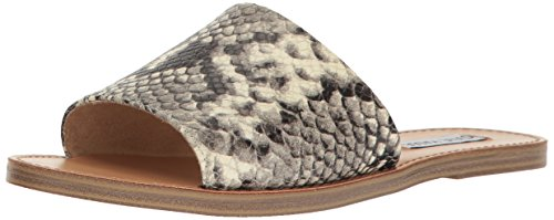 Price comparison product image Steve Madden Women's Grace Flat Sandal,  Natural Snake,  8 M US