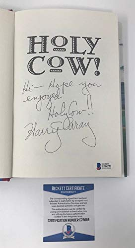 Harry Caray Autographed Signed Holy Cow Book Chicago Cubs Baseball MLB Cardinals Beckett