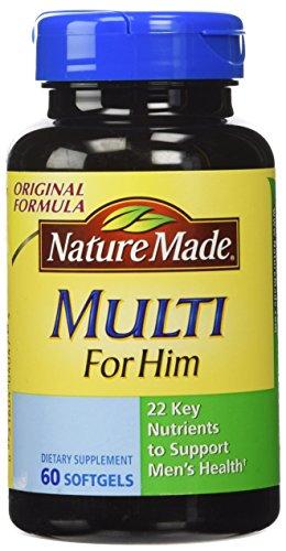 Nature Made Multi For Him Dietary Softgels Original Formula - 60 SoftGels