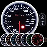 60mm Depo Racing 7 Color green blue Warning Water Temp Gauge
