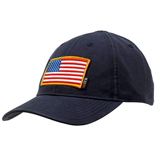 Velcro Patch Baseball - Gadsden and Culpeper 5.11 Flag Bearer Cap Bundle - Navy (USA Patch + Hat)