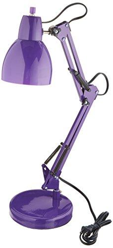Lite Source LS-22110PURP Desk Lamp with Purple Acrylic Shades, 14.0
