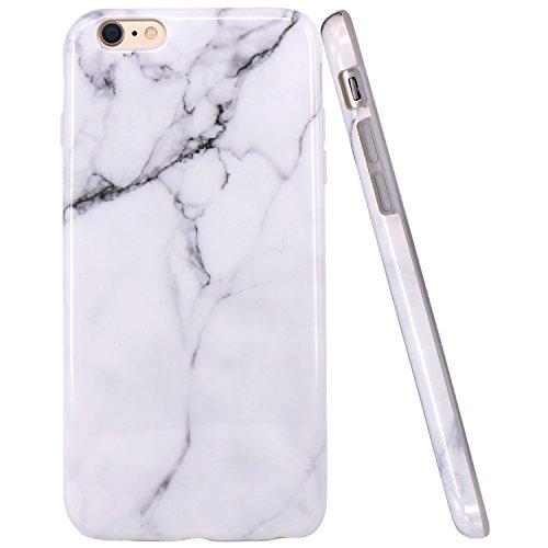 iPhone 6 Plus Case, iPhone 6S Plus Case, JAHOLAN White Marble Design...