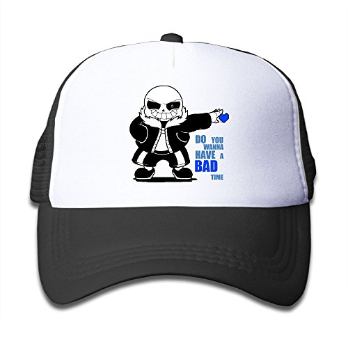 Grace Little Undertale Sans DO YOU WANNA HAVE A BAD TIME Children Outdoor Mesh Hat Ball Cap Adjustable Black