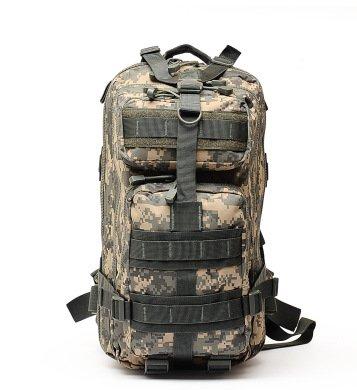 Camouflage Camouflage Outdoor drei Schichten des taktischen Zurück Armee Mini-Emergency Einzelverpackung Reiten taktische Camouflage Schultern Paket, schwarz,
