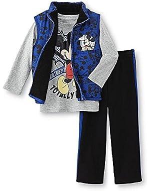 Disney Baby Boys Mickey Mouse 3 Piece Set Vest Shirt & Pants