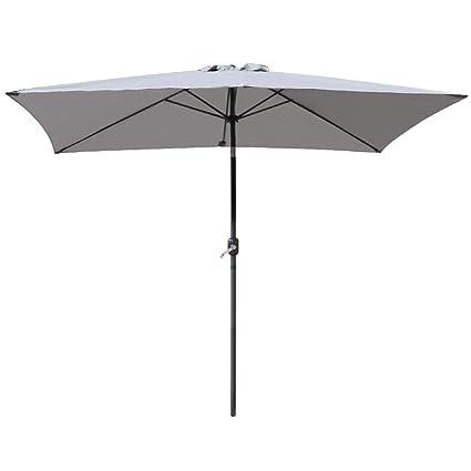 Black Greenbay 2x3m Patio Outdoor Umbrella Wind up Garden Parasol Sun Shade Aluminium Crank Tilt Mechanism