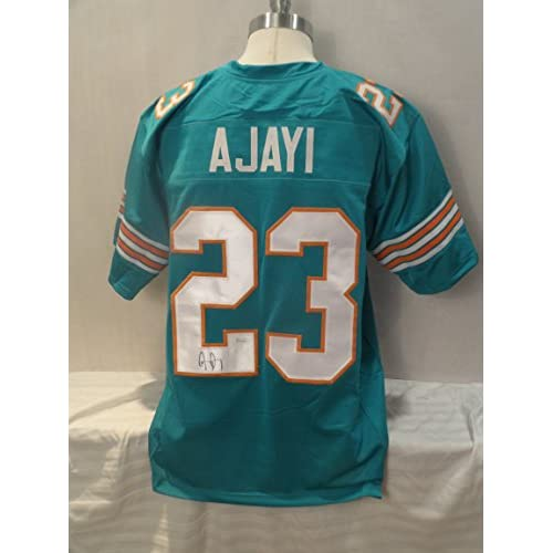 new concept 2eb57 e305a Jay Ajayi Signed Miami Dolphins Teal Autographed Jersey JSA ...
