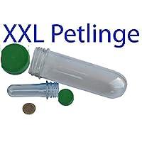 10 Stück - XXL Petlinge ohne Logbuch- VORSICHT FARBE GRÜN OPAK (4,5cm x 15 cm) es passen Tauschgegenstände und kleine Coins oder Travelbugs in den Petling