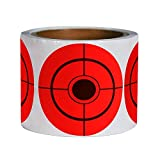 Shooting Target Stickers (250 Pack 3 Inch) Self Adhesive Target for Shooting - Easy to See Bright Fluorescent Orange Shooting Targets