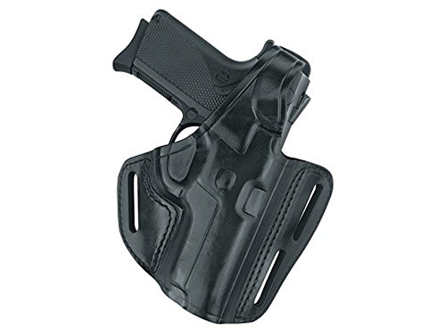 Gould & Goodrich B803-195LH Gold Line Three Slot Pancake Holster - Left Hand (Black) Fits most 1911-type pistols with 4.75 in. to 5.0 in. bbl incl. BROWNING Hi-Power; COLT Elite, Gold Cup, Gov't, 1911A1; KIMBER Custom, Target, Gold Match, Royal; PARA-ORDNANCE P14 .45, P16 .40; SPRINGFIELD 1911A1
