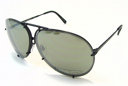PORSCHE DESIGN P8478D Aviator Sunglasses Black Matte Frame Size 66 + Extra - Design Porsche P8478 Sunglasses