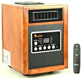 Modern Infrared Heater 1500W, Advanced Dual Heating System w/ Humidifier, Oscillation Fan & Remote Control | Contemporary Home Indoor Space Heater Provides Warmth Throughout Your House