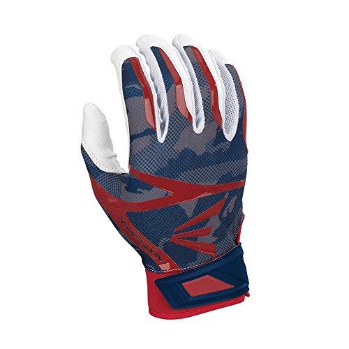 Easton Z7 Hyperskin Batting Pair Gloves, White/Navy/Red, Large