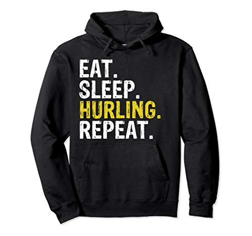 Eat Sleep Hurling Repeat Sports Irish Gift Hoodie -