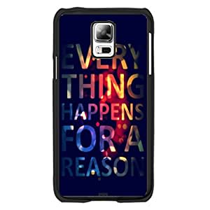 Colorful Monogrammed Black Samsung Galaxy S5 I9600 Case Cover with Quotes Hipster Bright Colors Monogram Hard Plastic Cell Phone Skin