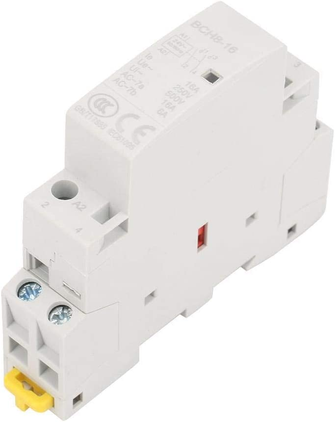 Contactor de AC de 2P 16A 24V, contactor de AC de hogar de riel Din 2NO 50 / 60HZ