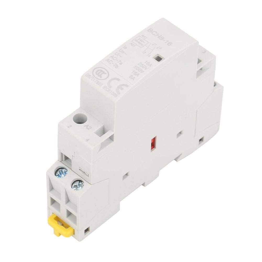 Keenso Contactor de AC de Rail DIN 2 Pines 16A 24V 2NO 50 / 60HZ