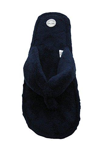 Women's Fashion Terry Cotton Flip Flop House Slippers for Women Navy 5Cf9sc9z5u