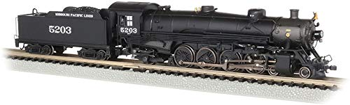- Bachmann Trains 4-8-2 Light Mountain Dcc Sound Value Equiped Steam Locomotive Missouri Pacific #5203 - N Scale, Prototypical Black