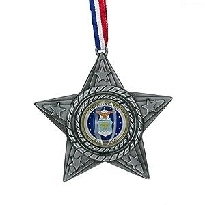 """Kurt Adler 4"""" Metal U S Air Force Star Ornament"""