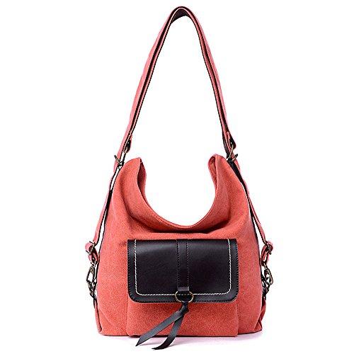 JOTHIN - Bolso cruzados de lino para mujer carbón 30*15*38 cm naranja