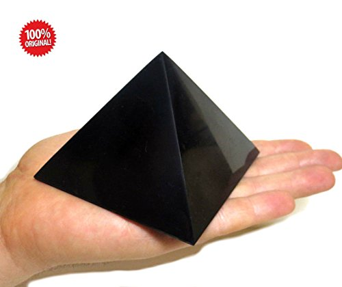 Shungite Polished Pyramid 100×100 mm 3,54×3,54 inch stones crystal mineral large