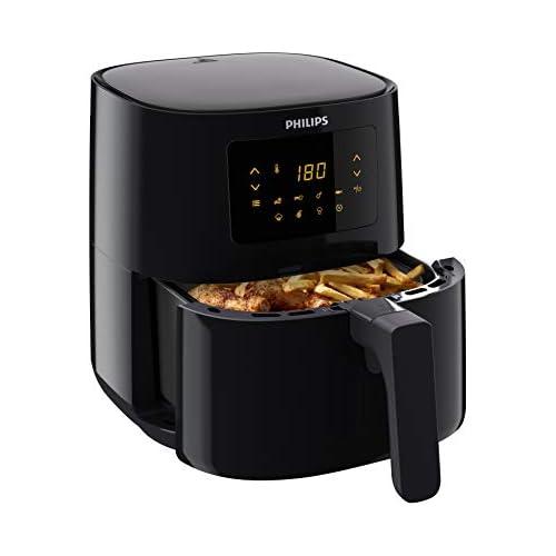 chollos oferta descuentos barato Philips HD9252 90 Airfryer Freidora de aire caliente original 1400 W para 2 3 personas 800 g 4 1 l pantalla digital color negro
