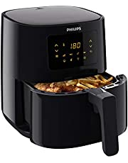 Philips Essential Airfryer med Rapid Air-teknik - 0.8 Kg - 4.1L - 1400 Watt - 4 portioner - Svart - HD9252/90