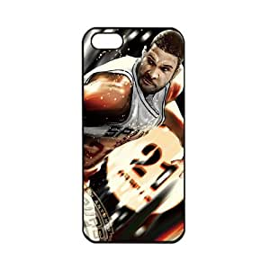 NBA San Antonio Spurs Tim Duncan Apple iPhone 5 TPU Soft Black cases for basketball fans Apple iPhone 5 TPU Soft Black or White cases for basketball Spurs fans (Black) by supermalls