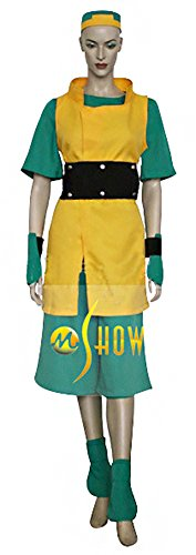 Mtxc Women's Avatar: The Last Airbender Cosplay Costume Toph Beifong Full Set Size Small Yellow ()