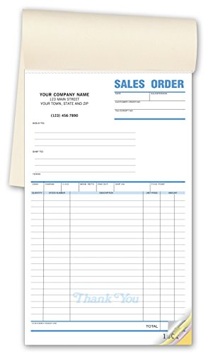 CheckSimple Multi-Purpose Sales Receipt Book, Customized X-Large Format, 2-Part Forms, White, 6 1/2 x 10 1/2 (250 ()
