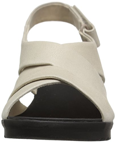 Clarks Women's Caddell Petal Platform Champagne Metallic Synthetic NtHEd