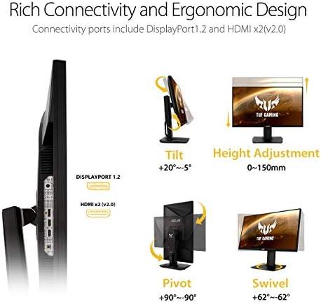 """ASUS TUF Gaming VG289Q 28"""" HDR Gaming Monitor 4K (3840 x 2160) IPS UnfastenedSync Eye Care DisplayPort Dual HDMI HDR 10,BLACK"""