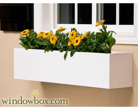 48 Inch Unity Chic Direct Mount No Rot PVC Composite Flower Window Box by Windowbox
