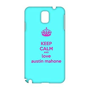 CCCM Keep Calm And Love Austin Mahone 3D Phone Case for Samsung Note 3