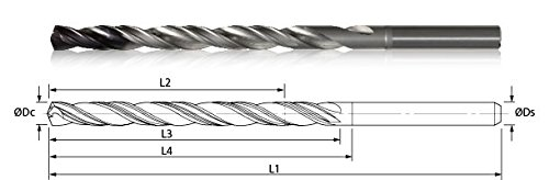 Kyocera 860-2813AG3656 HYDROS Solid Round Carbide High Performance Coolant Fed Micro Drill ()