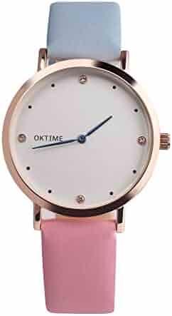 Vintage Design Leather Band Analog Alloy Quartz Wrist Watch