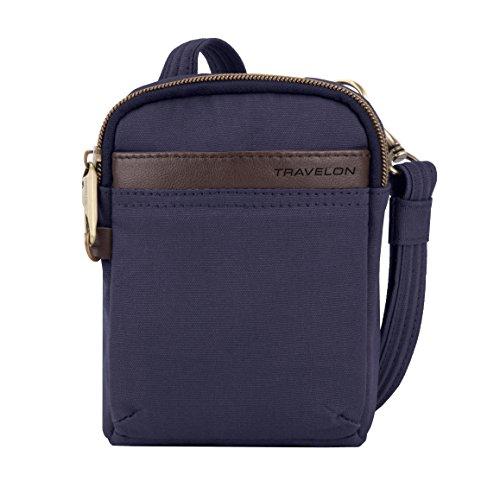 - Travelon Anti-Theft Courier Mini Crossbody Cross Body Bag, Navy, One Size