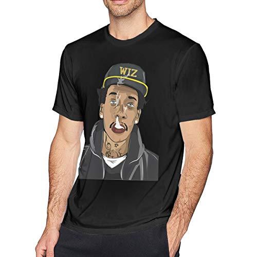 TERRY GARRARD Wiz Khalifa Adorable Music Band Men's Short Sleeve T-Shirt Black S