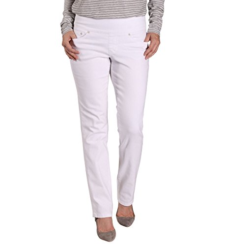 Jag Jeans Women's Peri Straight Pull on Jean, White Denim, - White Hottest Women