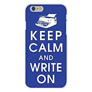 Apple iPhone 6 Custom Case White Plastic Snap On - Keep Calm and Write On w/ Old Vintage Typewriter