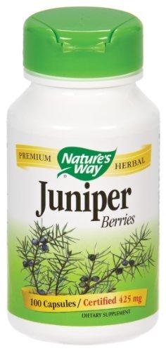 100 Capsules Berries Juniper - Nature's Way - Juniper Berries, 425 mg, 100 capsules
