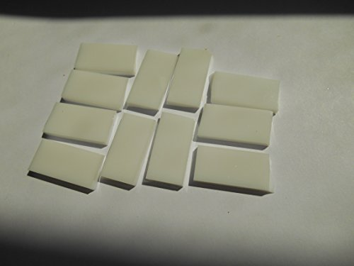 FortySevenGems 50 Pieces White Opaque Stained Glass Mosaic Border Tiles 1/2-Inch x 1 Inch