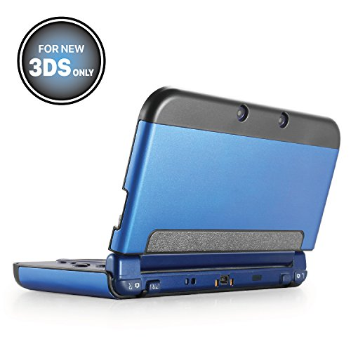 TNP New 3DS Case (Navy Blue) - Plastic + Aluminium Full Body Protective Snap-on Hard Shell Skin Case Cover for New Nintendo 3DS 2015 - [New Modified Hinge-less Design]